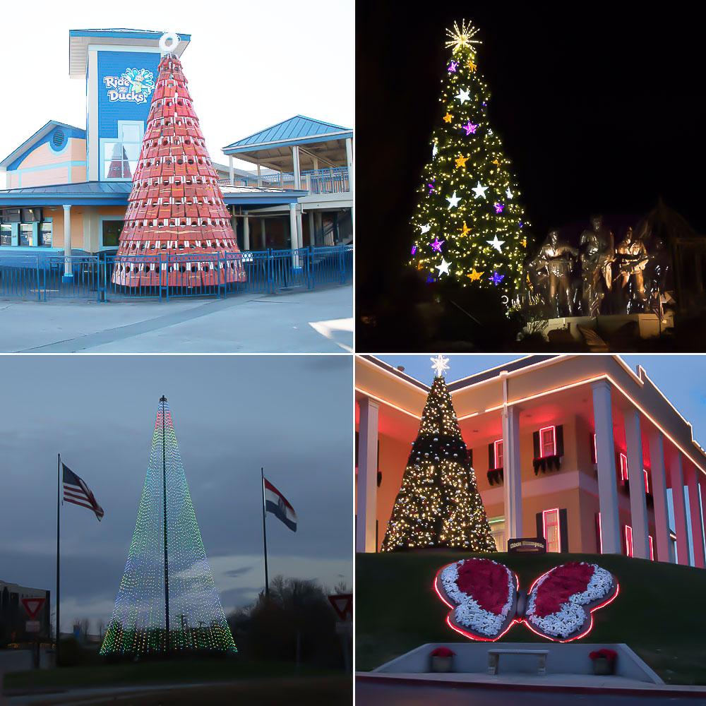Branson Missouri Christmas Tree Map
