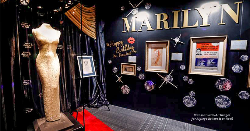 "1800329 Ripleys Believe Marilyn Monroe Dress Edit - Marilyn Monroe's $5 million ""Happy Birthday, Mr. President"" dress coming to Branson!"