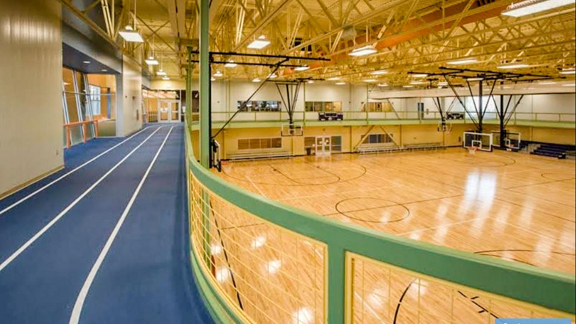 1903122 RecPlex Gymnasium Floor Walking Track NOP - RecPlex Gymnasium Floor Gets Refinishing on Steroids