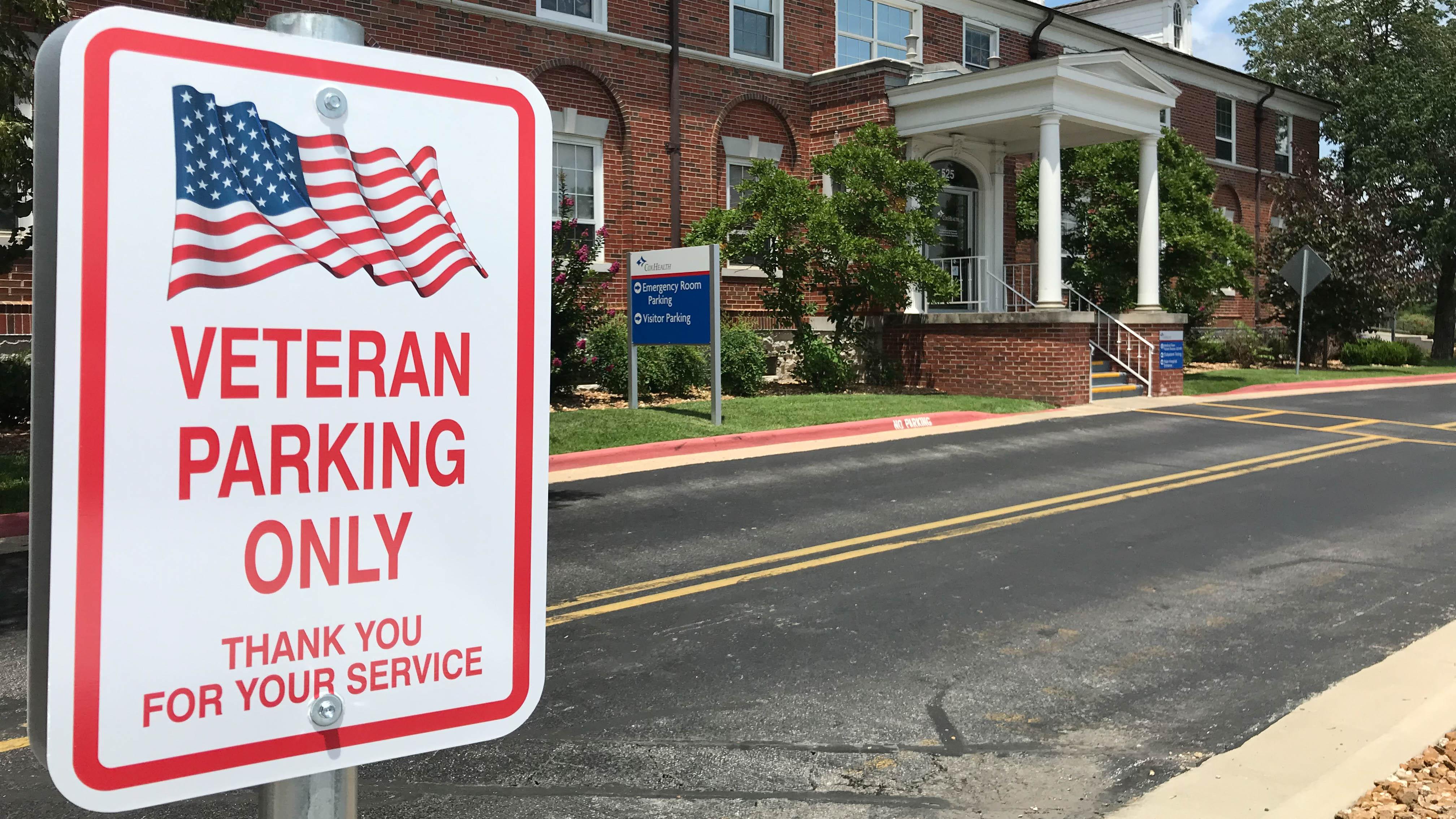 VeteransParking - Cox Medical Center Branson adds VIP parking for Veterans