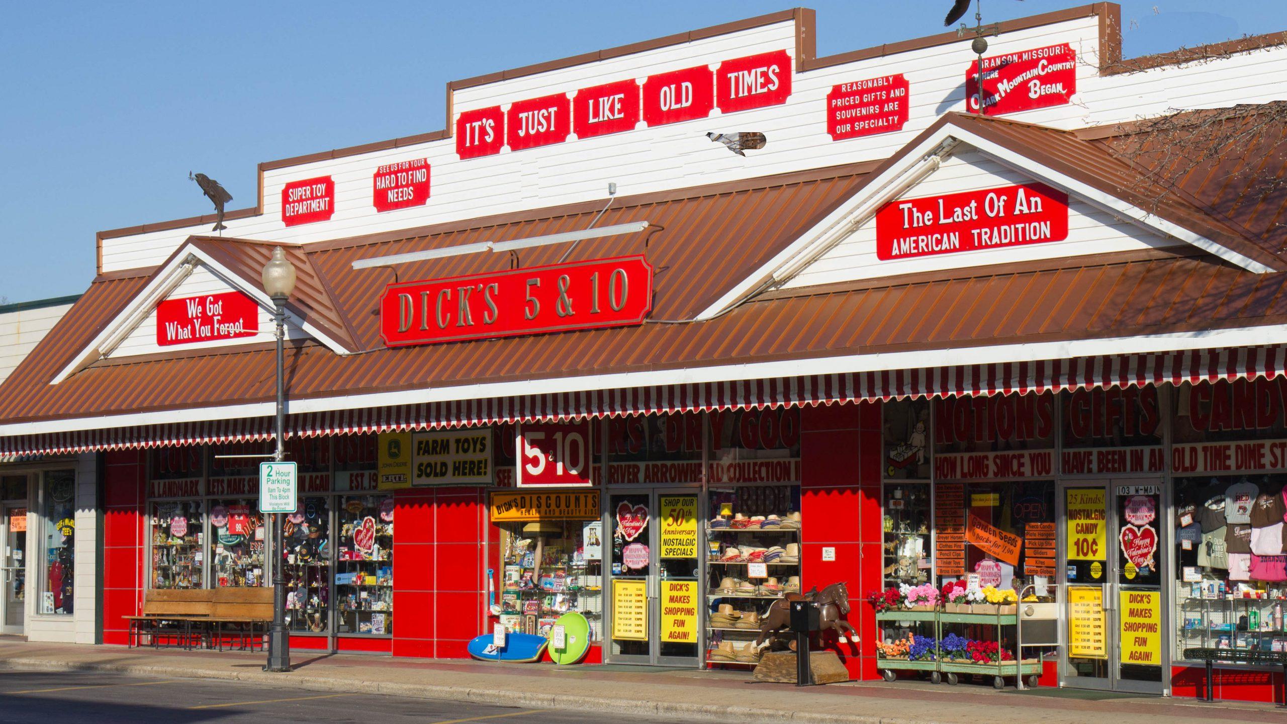 200225 Dicks 5 10 Hitoric Downtown Branson 1 scaled - Are Branson's corona Virus ordinances most restrictive in SW Missouri?