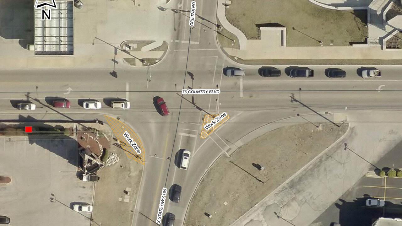 200303 Pedestrian Safety improvements Gretna 76 NOP - Pedestrian Safety Improvements Continue at Gretna Rd & W 76 Country Blvd