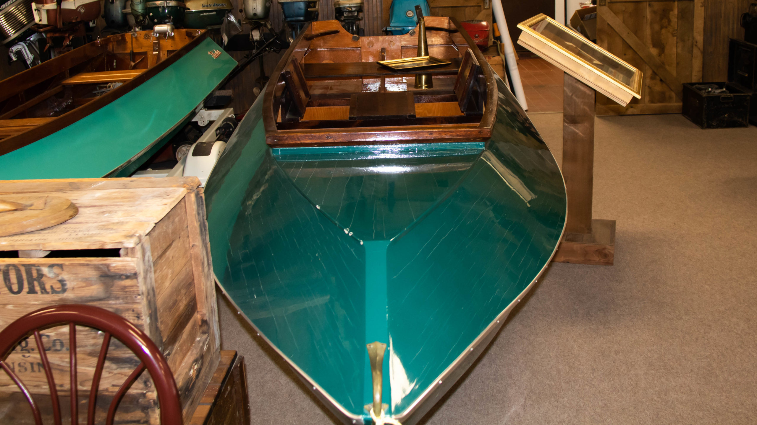 "201019 Skeeter1 the 1st Bass Boat manufactured in the united state scaled - Get ""hooked"" at the History of Fishing Museum"